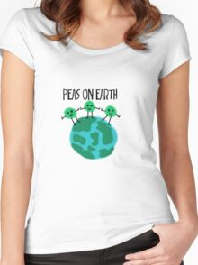 Peas on Earth Women's Fitted Scoop T-Shirt