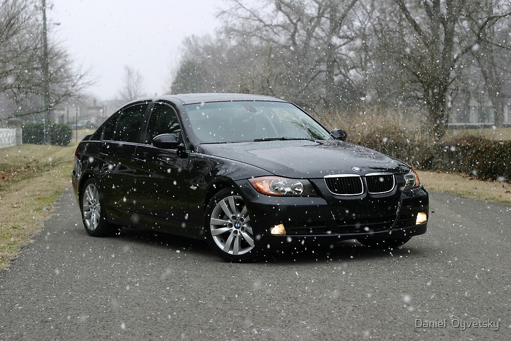 E90 Sport BMW Snowy Day by Daniel  Oyvetsky