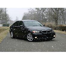 E90 Sport BMW Snowy Day Photographic Print