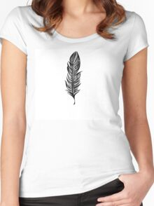 Lone Feather Women's Fitted Scoop T-Shirt
