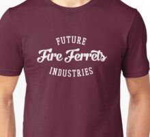 Future Industries' Fire Ferrets (White on Red) Unisex T-Shirt