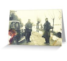 Two Sergeants, Norfolk, Uk - WWII Greeting Card