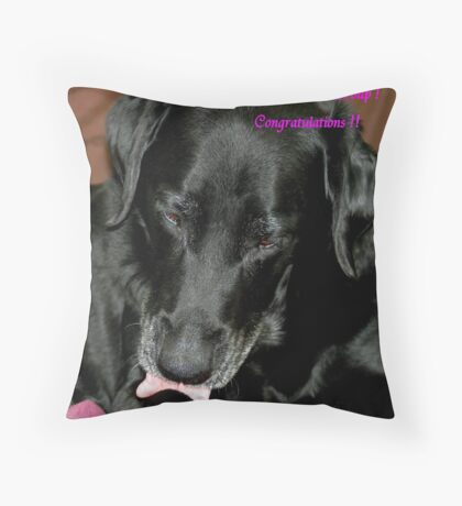 Challenge Banner ! Throw Pillow