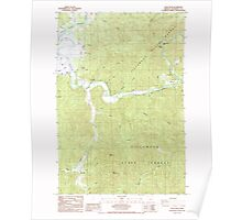 USGS Topo Map Oregon Foley Peak 279913 1985 24000 Poster