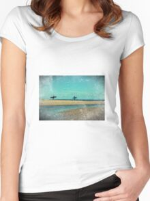surfers at lagoon 1 Women's Fitted Scoop T-Shirt