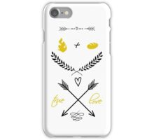 Fire + Bread = True Love iPhone Case/Skin