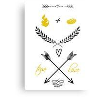 Fire + Bread = True Love Metal Print