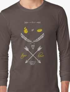 Fire + Bread = True Love Long Sleeve T-Shirt