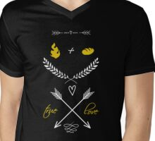 Fire + Bread = True Love Mens V-Neck T-Shirt