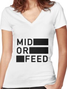 Mid Women's Fitted V-Neck T-Shirt