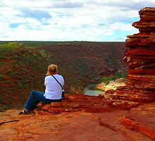 High on a rockface in Kalbarri by Wilhelmina
