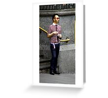 Cool red glasses Greeting Card