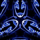 Vipers - Blue Digital Smoke Art by David Crausby