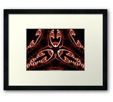Vipers - Red Digital Smoke Art Framed Print