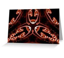 Vipers - Red Digital Smoke Art Greeting Card