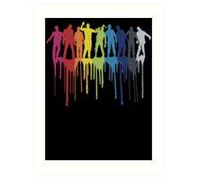 Rainbow Zombie Shuffle: Version One Art Print