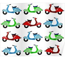 For the love of Vespas Poster