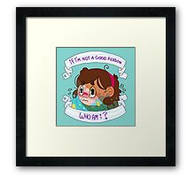 Not a Good Person Framed Print
