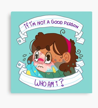Not a Good Person Canvas Print