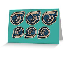 Turbo X6 Greeting Card