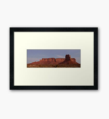 West Mitten and Sentinel Mesa at Nightfall Framed Print