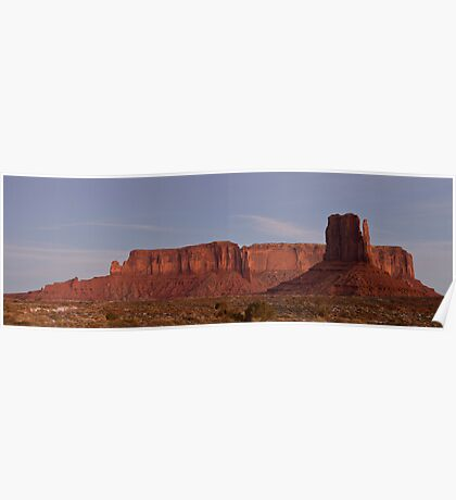 West Mitten and Sentinel Mesa at Nightfall Poster