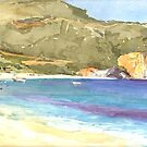 Beach at Parga by Peter Lusby Taylor