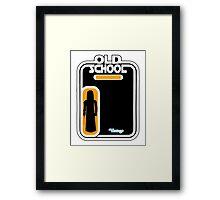 Old School Vader Framed Print