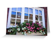 Cottage window Greeting Card