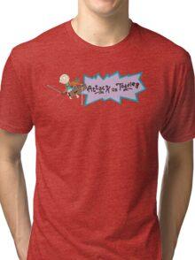 ATTACK ON TODDLER! Tri-blend T-Shirt