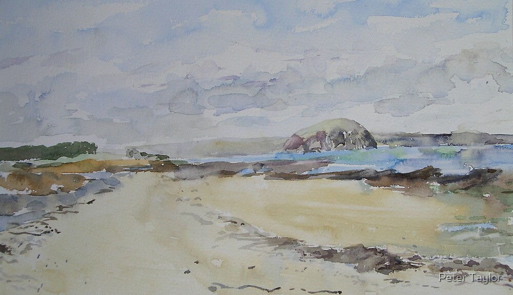 Bass rock sketch by Peter Lusby Taylor