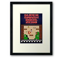 Super Smash Bros. Zero - Stage 1 - Retro Gaming Framed Print