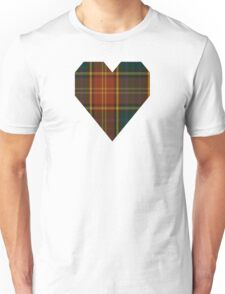 00352 Roscommon County District Tartan  Unisex T-Shirt