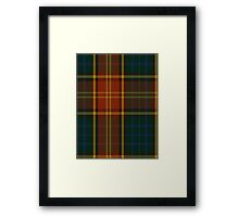 00352 Roscommon County District Tartan  Framed Print