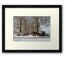 Horse and Buggy - Bird in Hand Framed Print