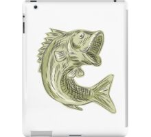 Largemouth Bass Fish Etching iPad Case/Skin