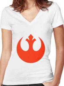 Rebel Alliance Women's Fitted V-Neck T-Shirt