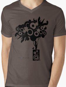 Funky Speaker Tree Mens V-Neck T-Shirt
