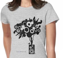 Funky Speaker Tree Womens Fitted T-Shirt