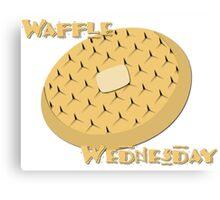 Waffle Wednesday Canvas Print