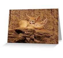 Fennec Fox Love Greeting Card