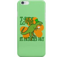 T-REX LOVES ST. PATRICK'S DAY iPhone Case/Skin