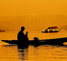 Golden Hour At Dal Lake by Mukesh Srivastava