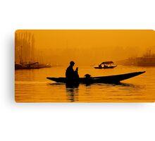 Golden Hour At Dal Lake Canvas Print