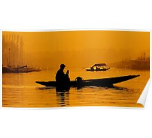 Golden Hour At Dal Lake Poster