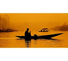 Golden Hour At Dal Lake Photographic Print