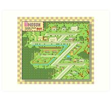 Twoson Town Map - Earthbound/Mother 2 Art Print