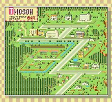 Twoson Town Map - Earthbound/Mother 2 by Studio Momo╰༼ ಠ益ಠ ༽