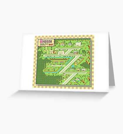 Twoson Town Map - Earthbound/Mother 2 Greeting Card