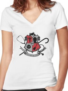 House Shield  Women's Fitted V-Neck T-Shirt